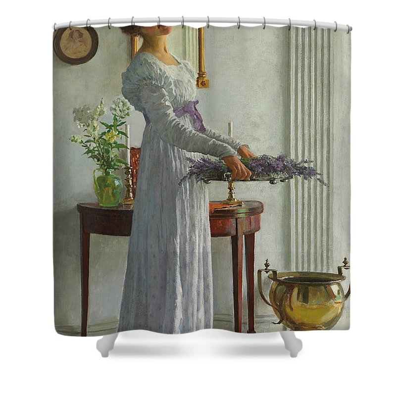 Fresh Lavender Shower Curtain for Sale by William Henry Margetson