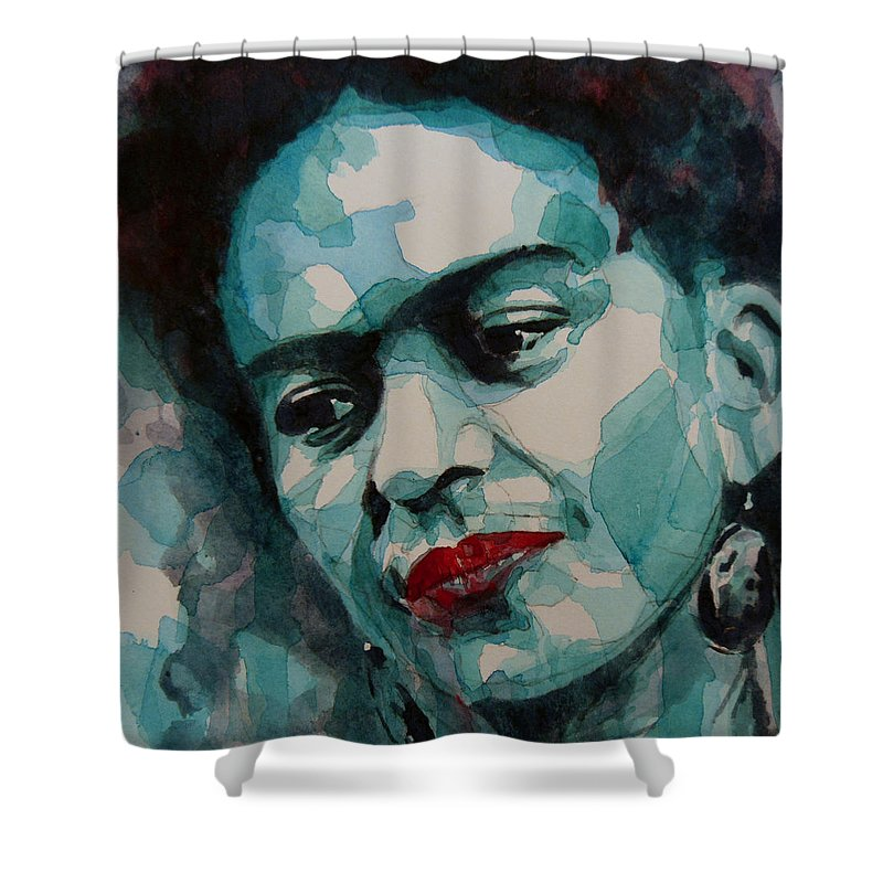Frida Shower Curtain Featuring The Painting Kahlo By Paul Lovering