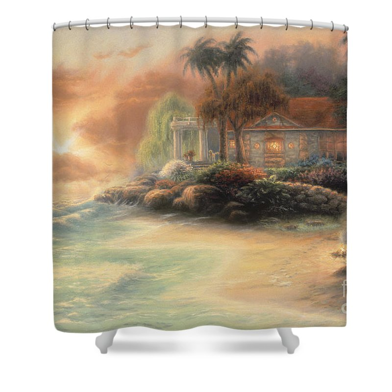 Tropical Shower Curtain featuring the painting Friday Evening Summer by Chuck Pinson
