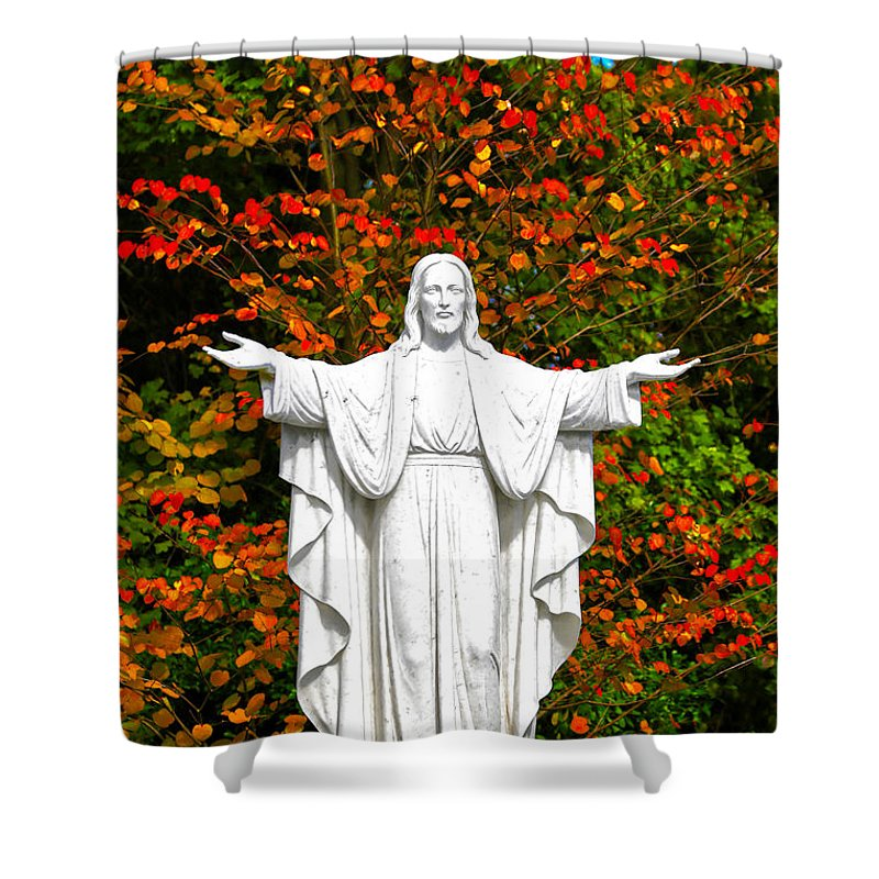 Jesus Shower Curtain featuring the photograph Friend Of Silence by Mitch Cat