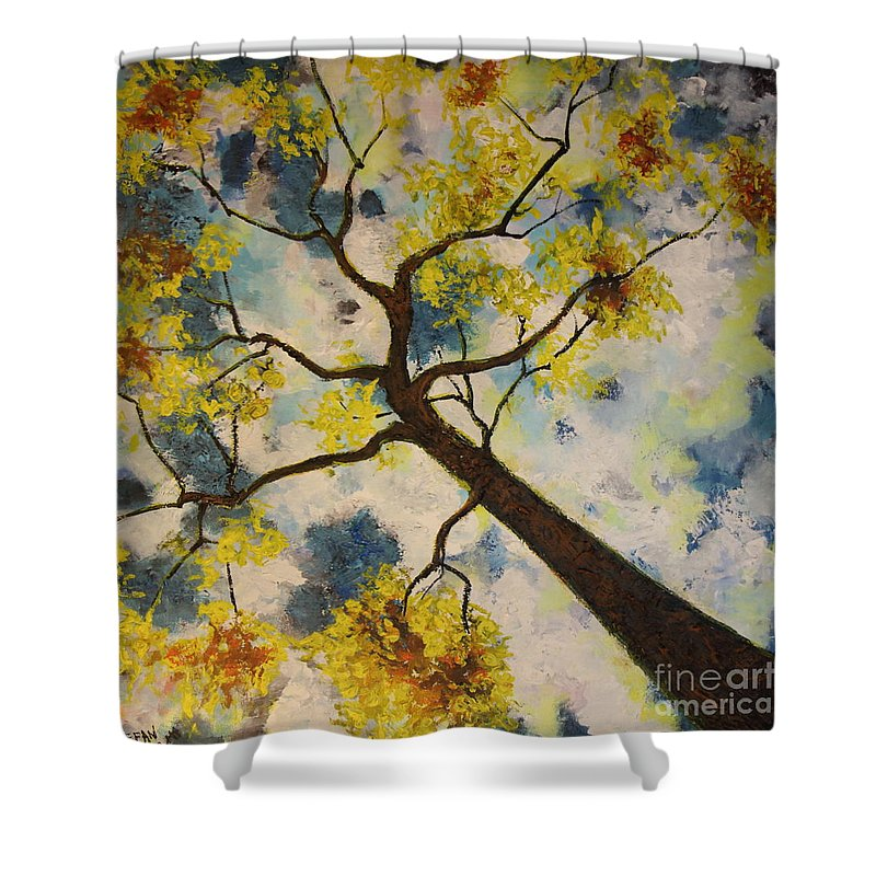 Impressionism Shower Curtain featuring the painting Friends In The City by Stefan Duncan