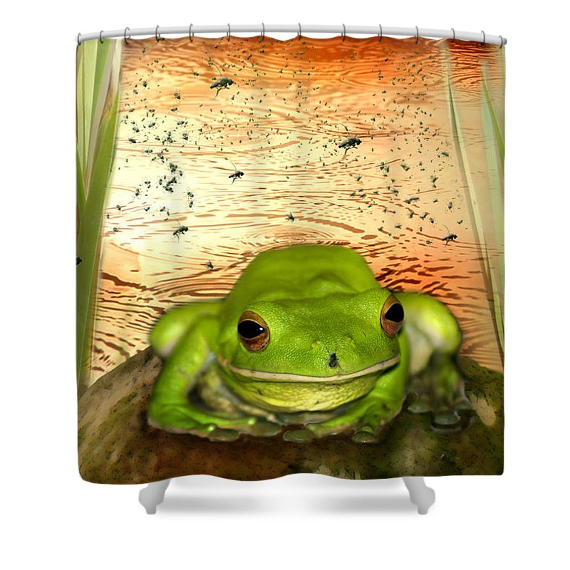 Nature Shower Curtain featuring the photograph Froggy Heaven by Holly Kempe