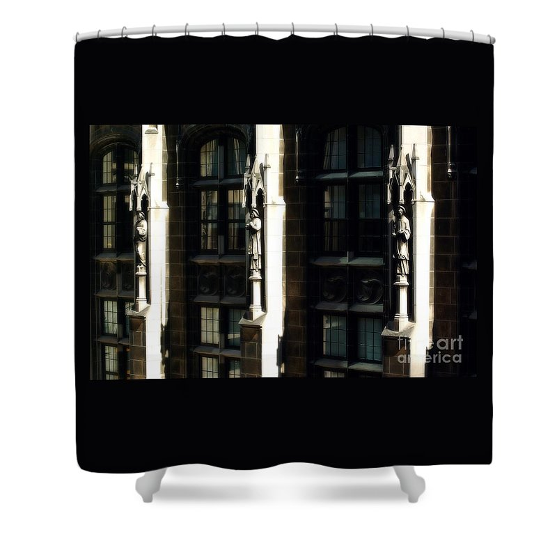 Statues Shower Curtain featuring the photograph From Rome to Chicago by Frank J Casella