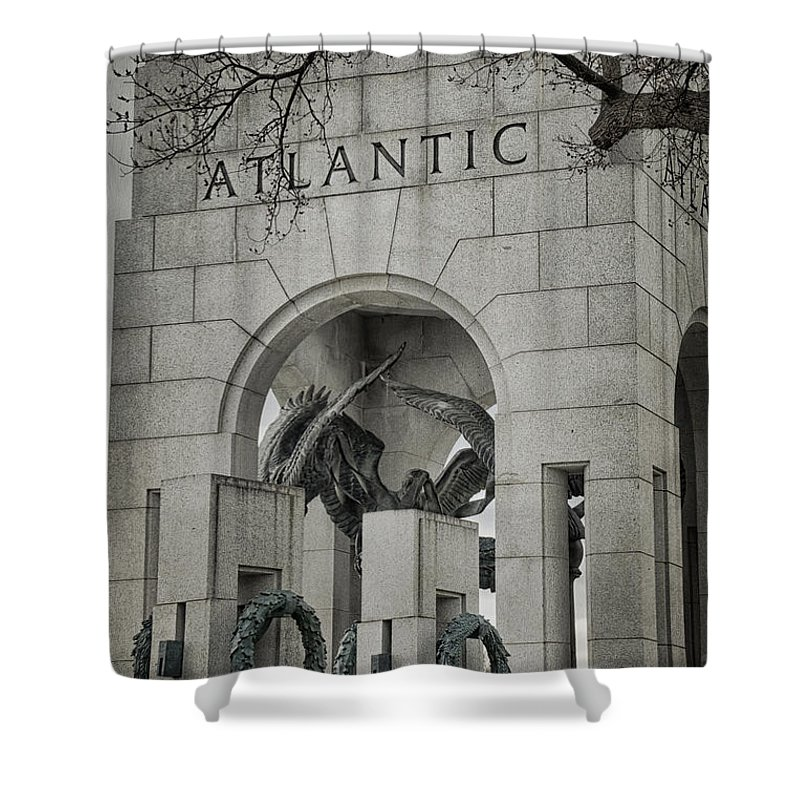 Monument Shower Curtain featuring the photograph From The Atlantic by Joan Carroll