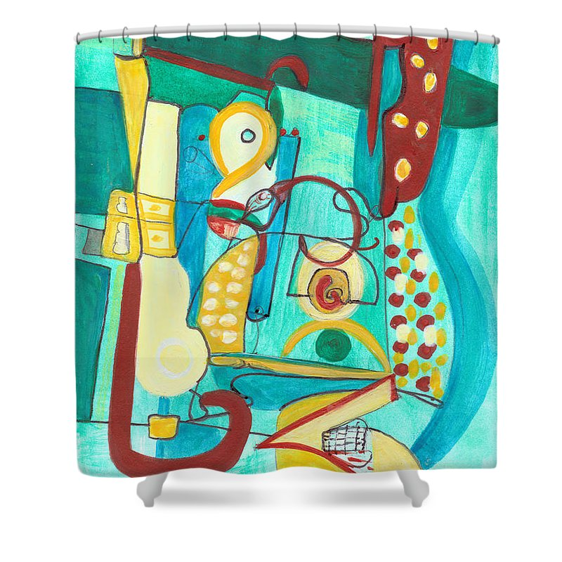 Abstract Art Shower Curtain featuring the painting From Within #20 by Stephen Lucas