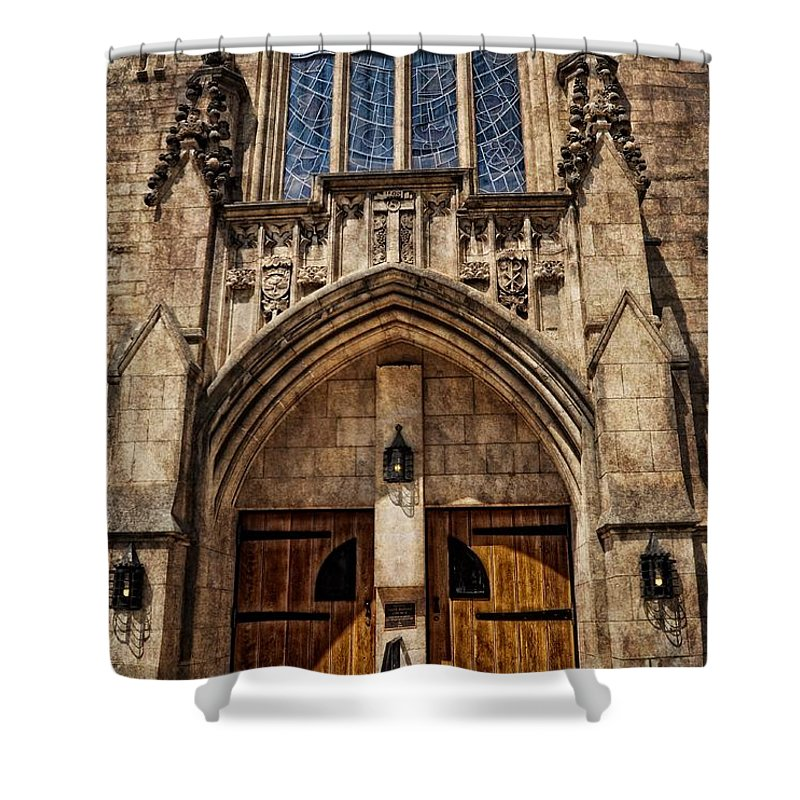 Chris Fleming Shower Curtain featuring the photograph Front Door by Chris Fleming