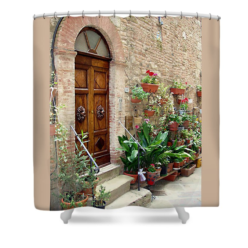 Front Door Shower Curtain featuring the photograph Front Door by Ellen Henneke