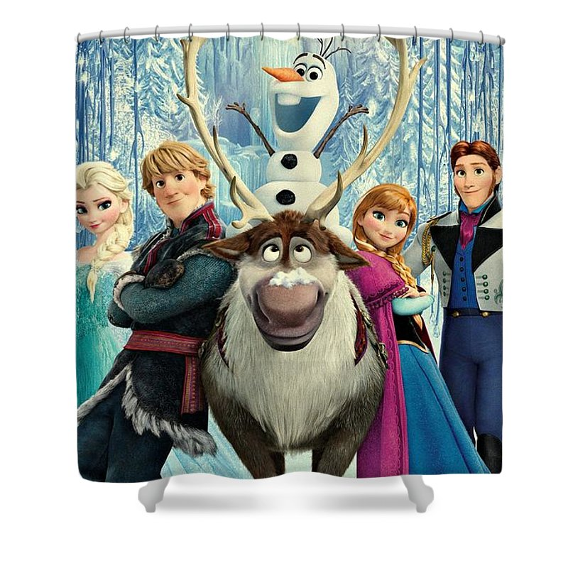 Frozen Shower Curtain Featuring The Digital Art 255 By Movie Poster Prints