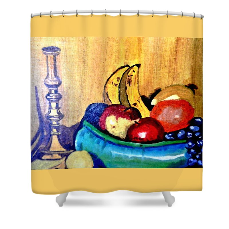 Still Life Shower Curtain featuring the painting Fruit by Jo-Ann Hayden