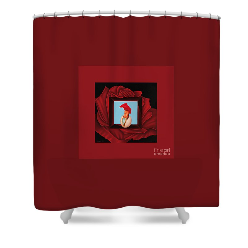 Life Shower Curtain featuring the painting Surreal Fugacious by Johannes Murat