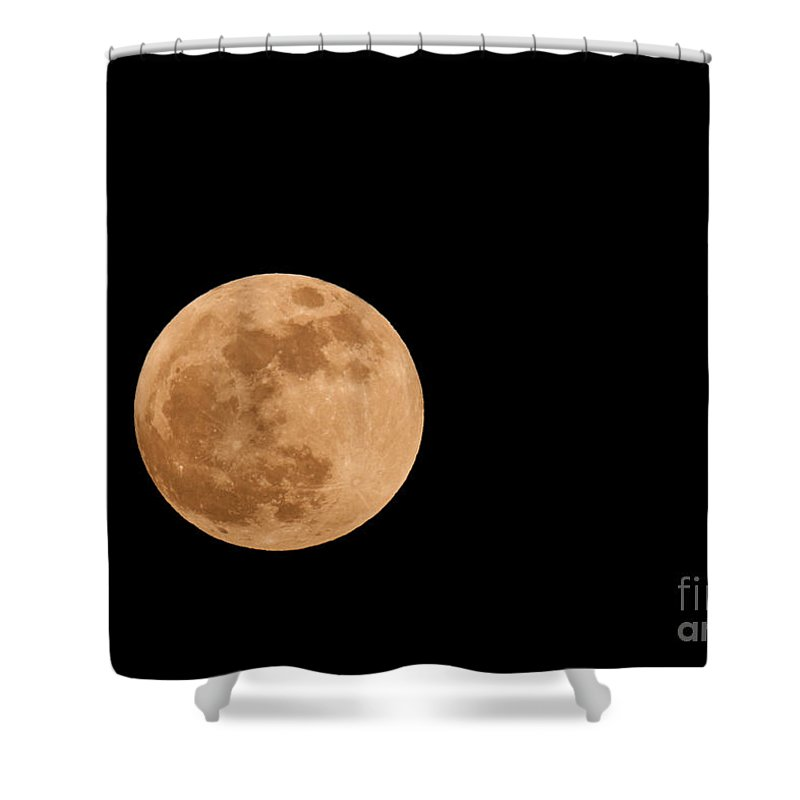 Shower Curtain featuring the photograph Full Moon by Les Palenik