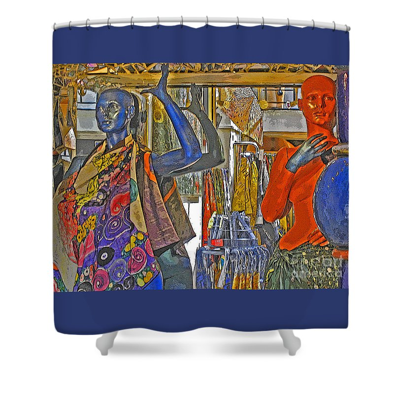Fashion Shower Curtain featuring the photograph Funky Boutique by Ann Horn
