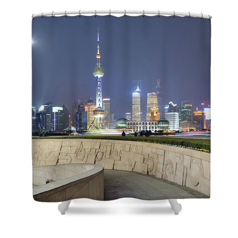 Tranquility Shower Curtain featuring the photograph Future City by Wei Fang