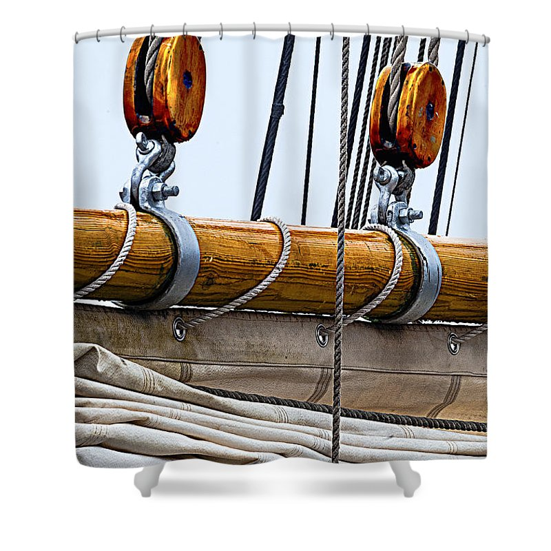 Schooner Shower Curtain featuring the photograph Gaff And Mainsail by Marty Saccone