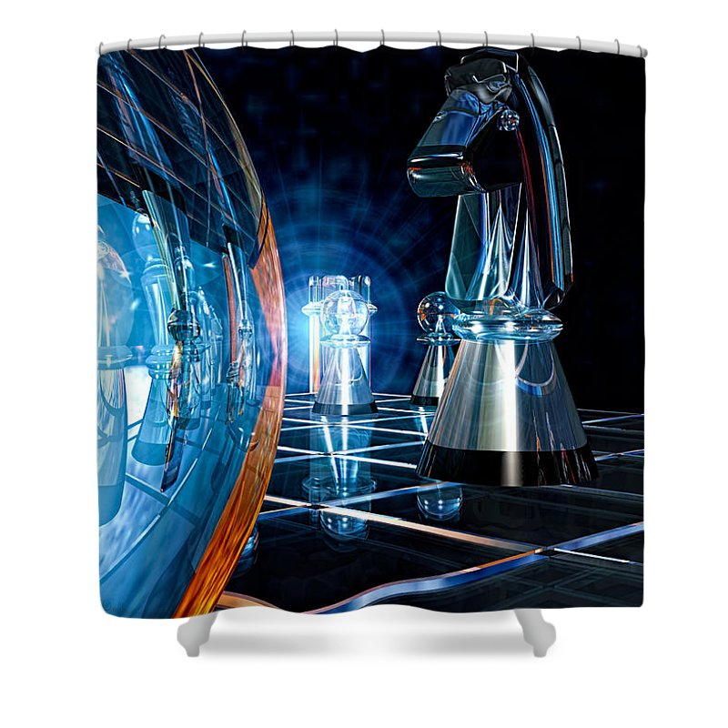 Chess Shower Curtain featuring the photograph Game Transparent by Bob Orsillo