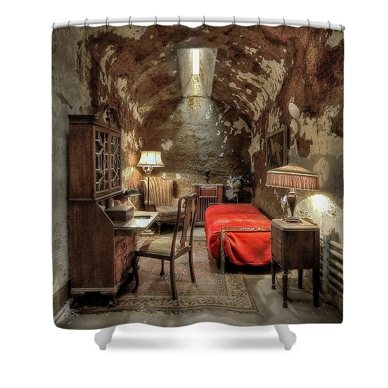 Abandoned Shower Curtain featuring the photograph Gangsta's Paradise by Evelina Kremsdorf