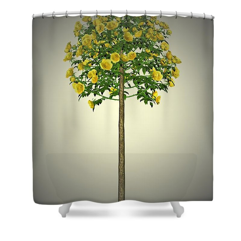 Garden Shower Curtain featuring the painting Garden Flowers 2 by Movie Poster Prints