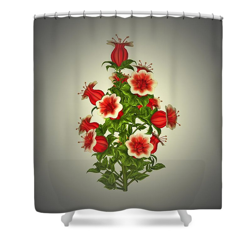 Garden Shower Curtain featuring the painting Garden Flowers 8 by Movie Poster Prints