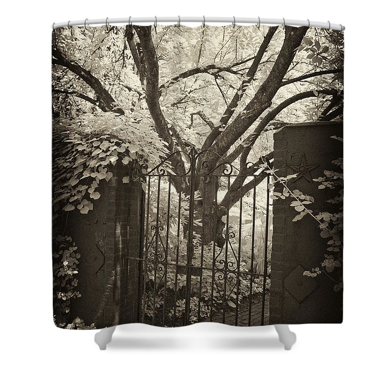 Gate Shower Curtain featuring the photograph Garden Gate by Paul W Faust - Impressions of Light