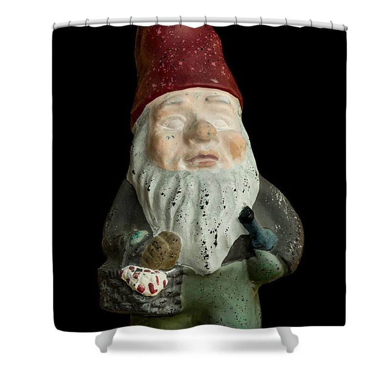 Gnome Shower Curtain Featuring The Photograph Garden By Edward Fielding