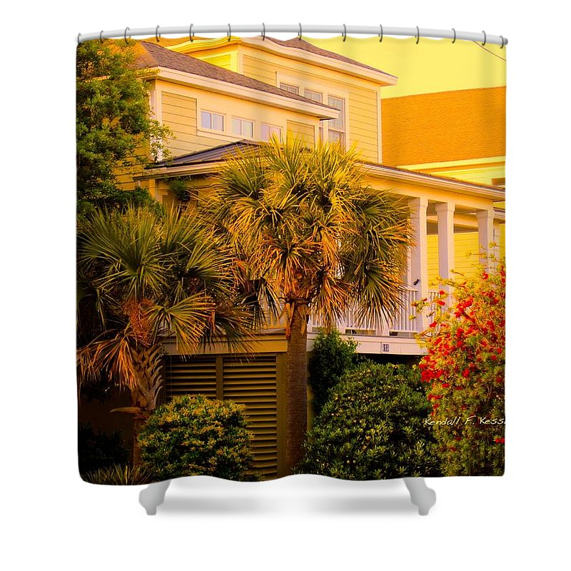 Kendall Kessler Shower Curtain featuring the photograph Garden Light At Isle Of Palms by Kendall Kessler