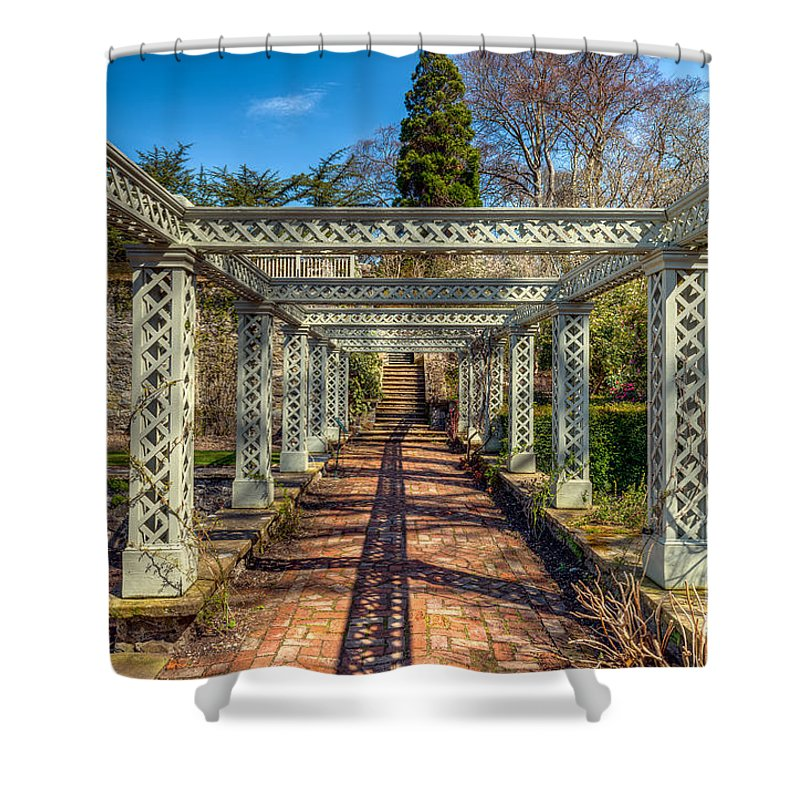 1792 Shower Curtain featuring the photograph Garden Path by Adrian Evans