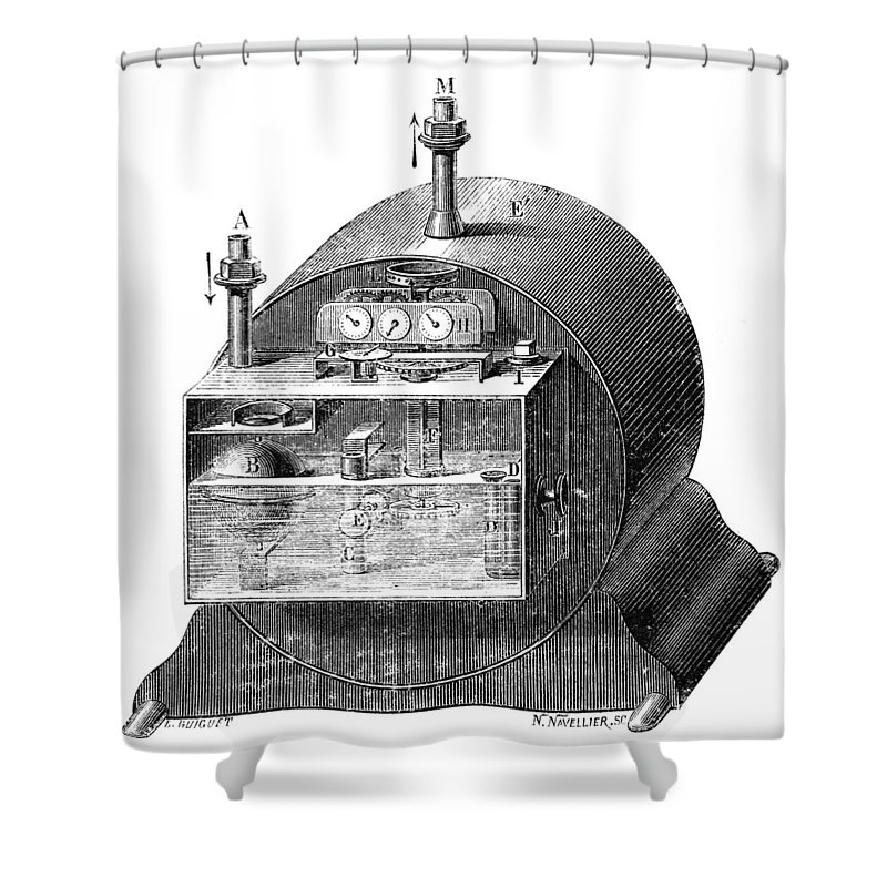 19th Century Shower Curtain featuring the photograph Gas Meter by Granger