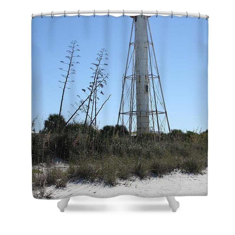 Steel Lighthouse Shower Curtain featuring the photograph Gasparilla Island Light II by Christiane Schulze Art And Photography
