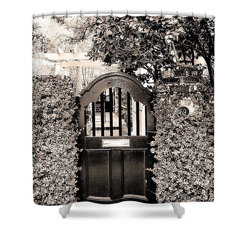 Charleston Shower Curtain featuring the photograph Gate 69 Charleston Sc by William Dey