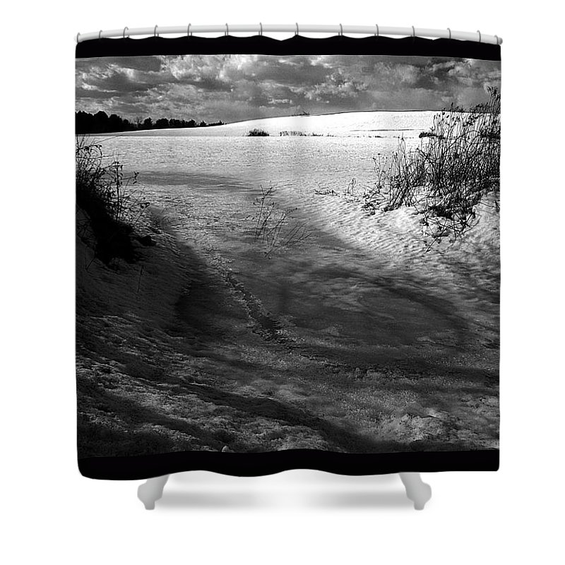 Landscape Shower Curtain featuring the photograph Gate To Winter by Theodore Rice