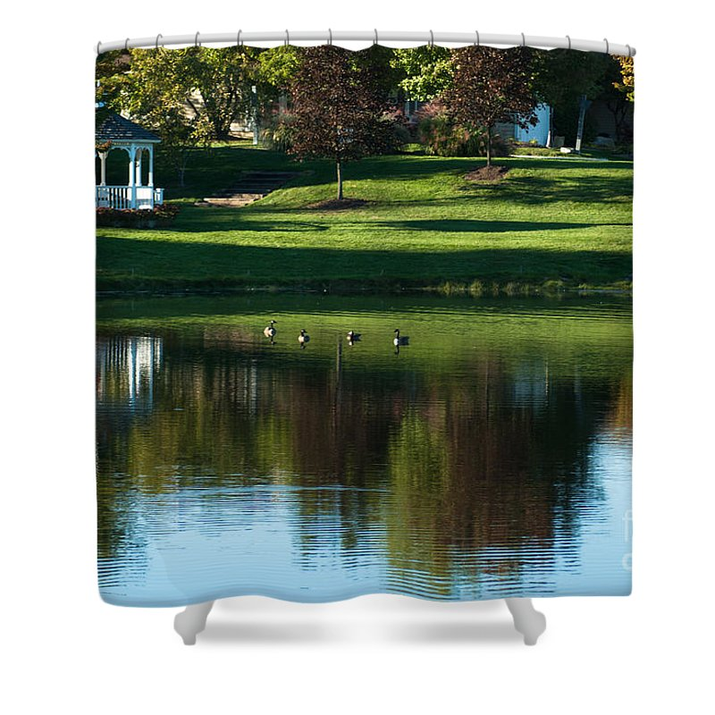 Optical Playground By Mp Ray Shower Curtain featuring the photograph Gazebo by Optical Playground By MP Ray