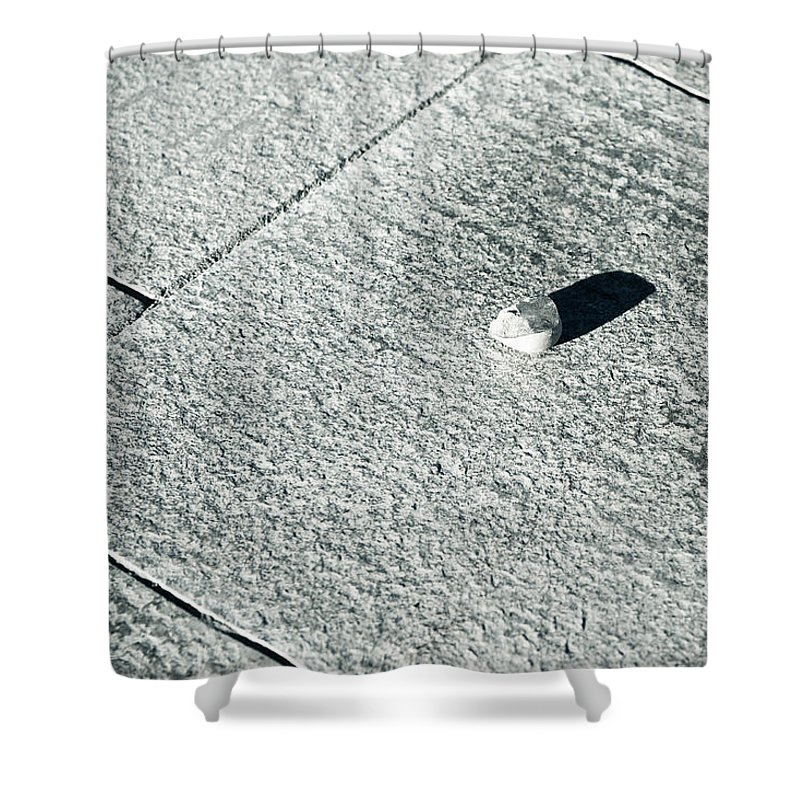 Abstract Shower Curtain featuring the photograph Gem Cutting by Alexander Senin