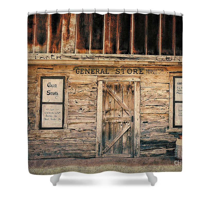 Old West Shower Curtain featuring the photograph General Store by Betty LaRue