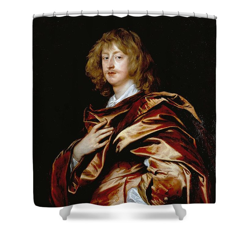 2nd Earl Of Bristol Shower Curtain featuring the painting George Digby by Anthony van Dyck