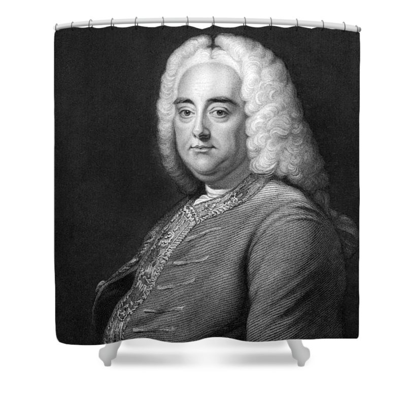 1 Person Shower Curtain featuring the photograph George Frederic Handel by Underwood Archives
