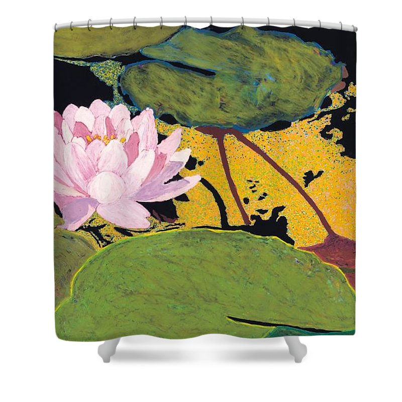 Landscape Shower Curtain featuring the painting Georgia Summer by Allan P Friedlander