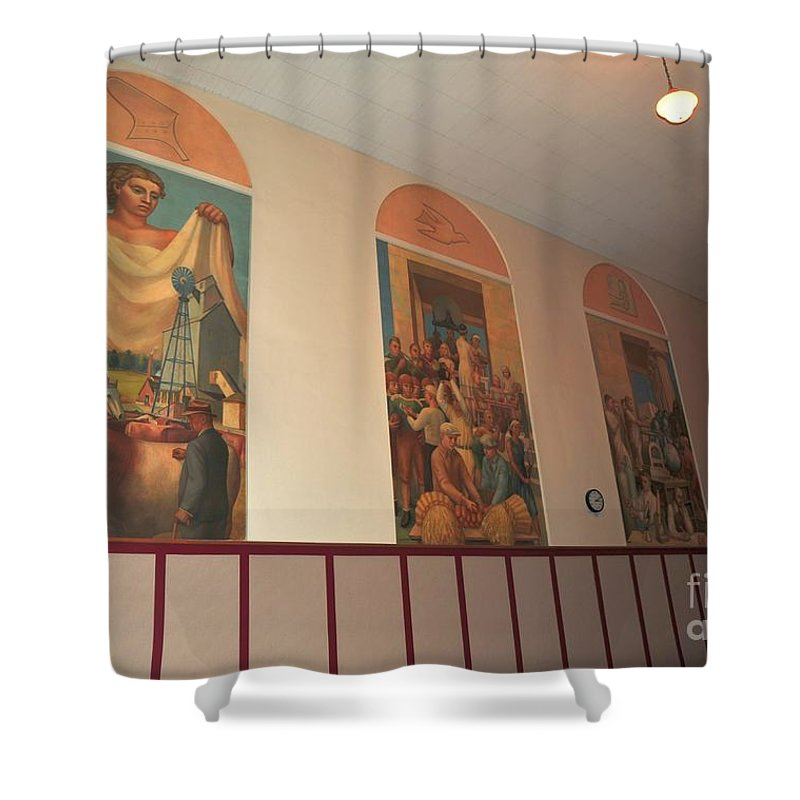 Gerald Mast Shower Curtain featuring the photograph Gerald Mast Murals In Clare Michigan by Terri Gostola