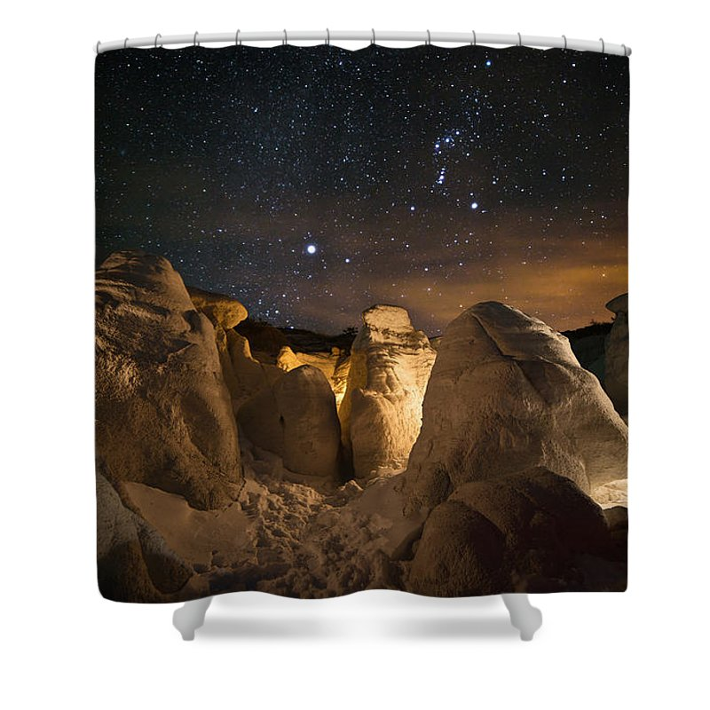 Calhan Paint Mines Shower Curtain featuring the photograph Get Sirius by Jon Blake