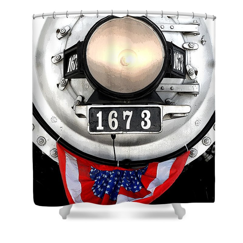 Railroad Shower Curtain featuring the photograph Ghost Engine by Joe Kozlowski