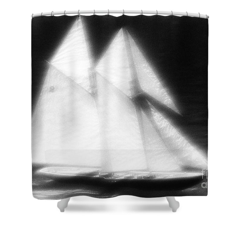 Sail Shower Curtain featuring the photograph Ghost Ship by Tony Cordoza