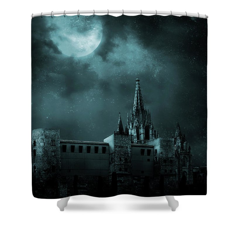Gothic Style Shower Curtain featuring the photograph Ghosts In The Empty Town by Vladgans