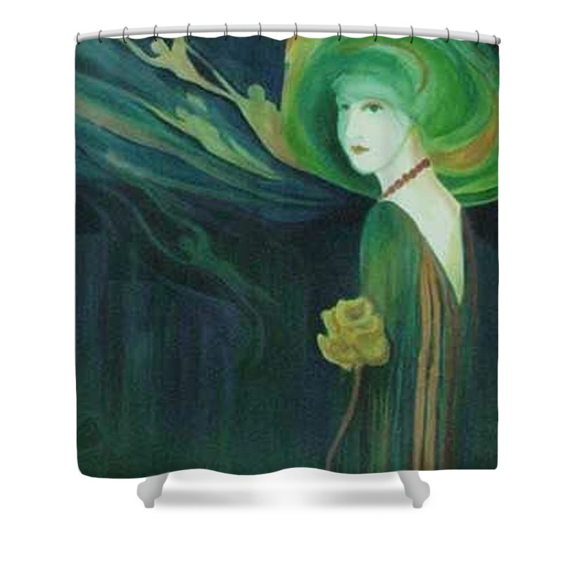 Women Shower Curtain featuring the painting My Haunted Past by Carolyn LeGrand