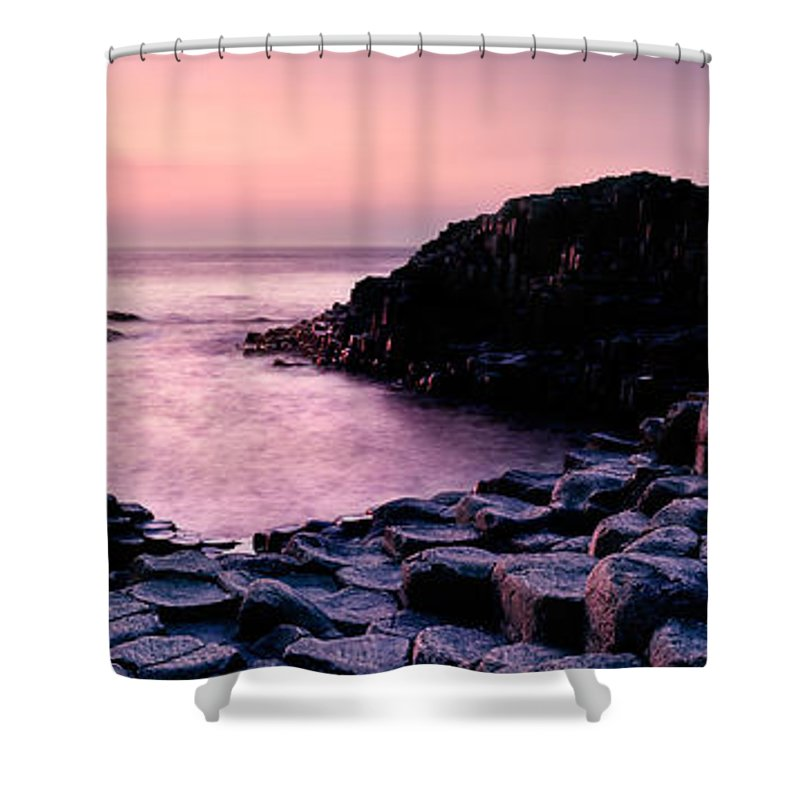 Giant's Causeway Shower Curtain featuring the photograph Giants Causeway 3 by Rod McLean