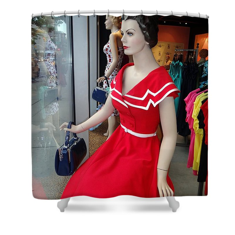 Mannequins Shower Curtain featuring the photograph Girls On Display by Ed Weidman