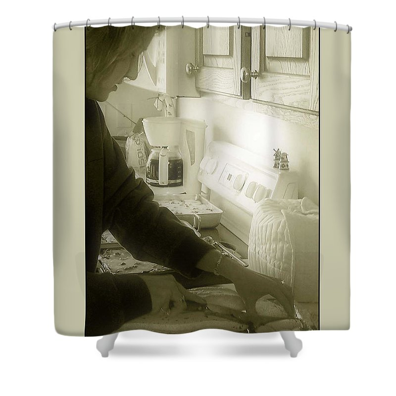 Bread Shower Curtain featuring the photograph Give Us This Day Our Daily Bread by Gene Tatroe