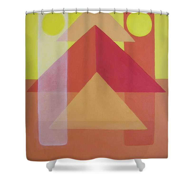 Giza Shower Curtain featuring the painting Giza by Michael TMAD Finney AKA MTEE