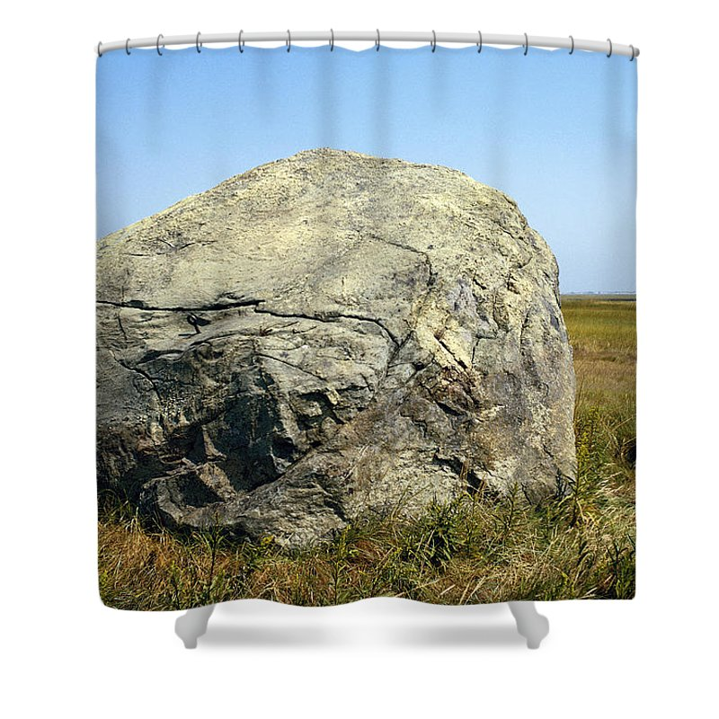 Erratic Shower Curtain Featuring The Photograph Glacial Cape Cod By George Whiteley