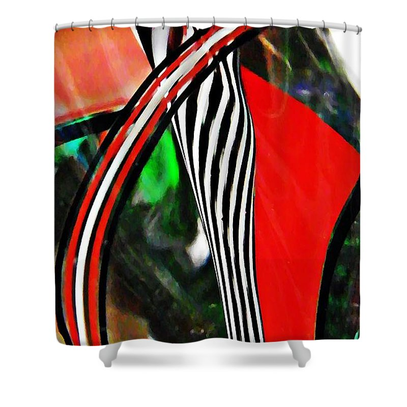 Abstract Shower Curtain featuring the photograph Glass Abstract 493 by Sarah Loft