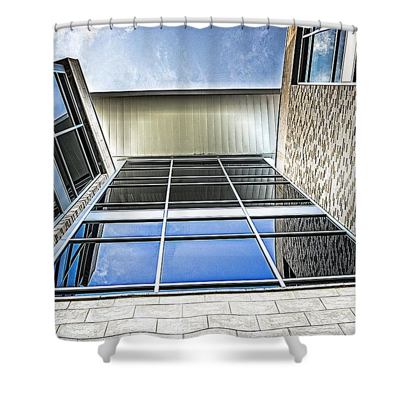 Uwf Shower Curtain featuring the photograph Glass Reflections by Jon Cody
