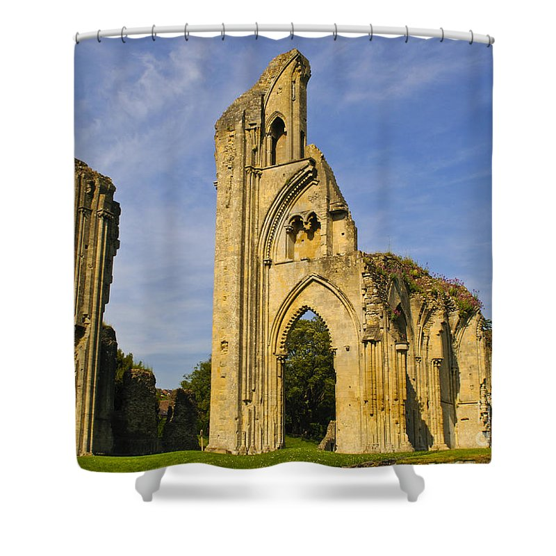 Glastonbury Abbey Shower Curtain featuring the photograph Glastonbury Abbey by Lana Enderle